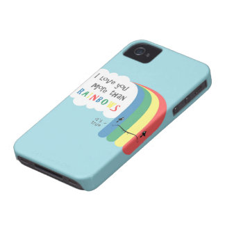 I  Love You More Than Rainbows iPhone 4 Case
