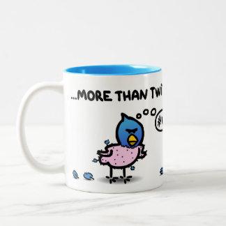 """I love you more than twitter"" Two-Tone Coffee Mug"