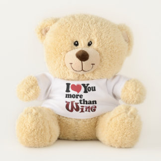 I Love You More Than Wine Teddy Bear