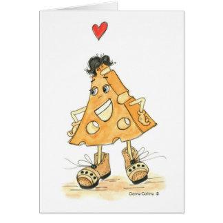I love you mr. cheese greeting card
