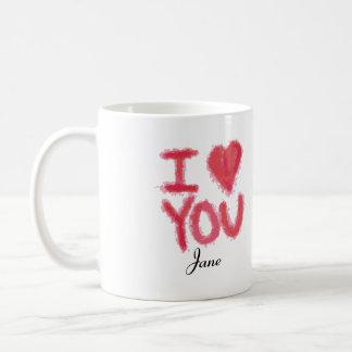 I Love You Mug Customizable Name