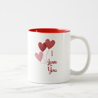 I Love You Mug with Heart Balloons