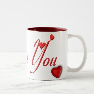 I Love You Mug with Hearts