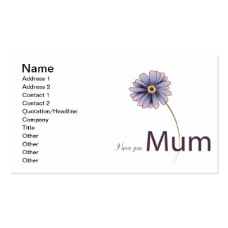 I Love You Mum Double-Sided Standard Business Cards (Pack Of 100)