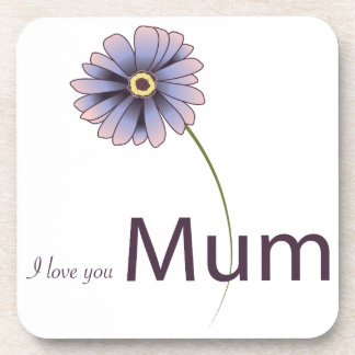 I Love You Mum Drink Coasters