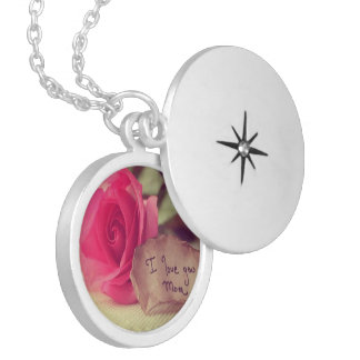I Love You Mum Round Silver Plated Locket