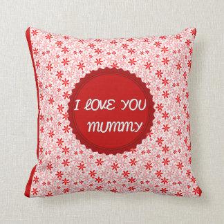 I LOVE YOU MUMMY RED RETRO ROMANTIC PILLOW