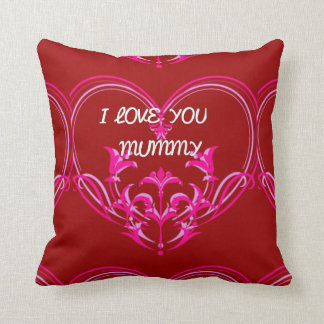 I LOVE YOU MUMMY RED ROMANTIC GIFT PILLOW