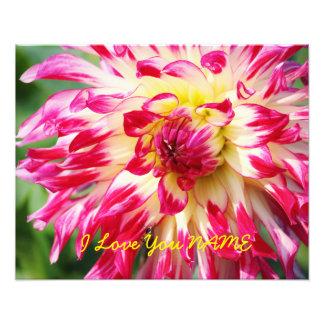 I Love You NAME Photo Print