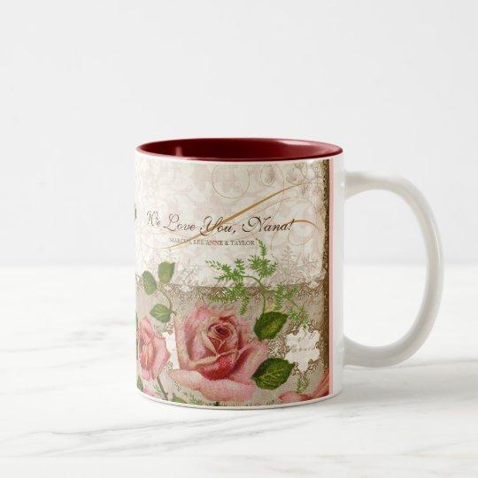 I Love You Nana, Vintage English Roses Mug