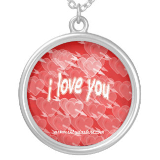 I LOVE YOU ROUND PENDANT NECKLACE
