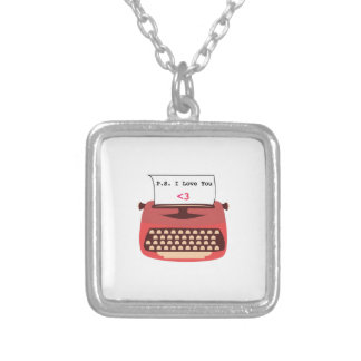 I Love You Square Pendant Necklace