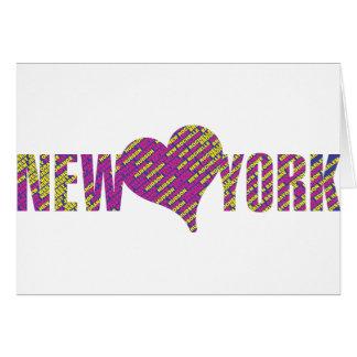 I love you new york city my heart card