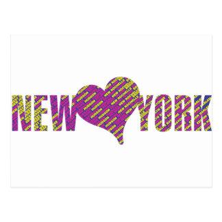 I love you new york city my heart postcard