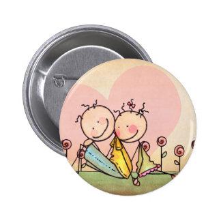 I Love You Nostalgia Stix – Customizable Pinback Button