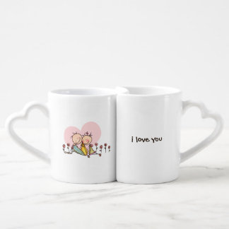 I Love You, Nostalgia Stix – Customizable Coffee Mug Set
