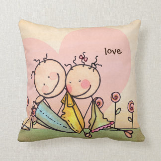 I Love You, Nostalgia Stix – Customizable Pillow
