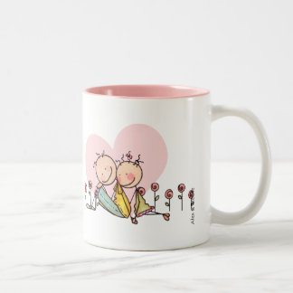 I Love You, Nostalgia Stix – Customizable Two-Tone Coffee Mug