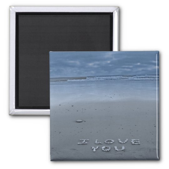 I Love You On The Beach Magnet