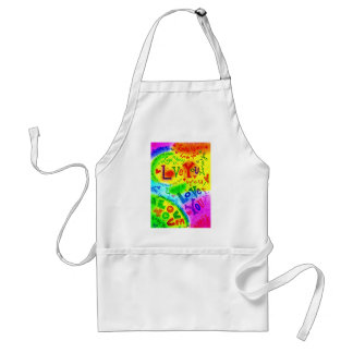 I LOVE YOU Painting Adult Apron