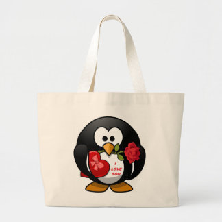 I LOVE YOU PENGUIN TOTE BAG