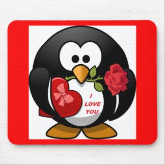 """I LOVE YOU"" PENGUIN MOUSE PAD"