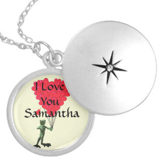 I love you personalized locket necklace