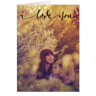 I Love You Personalized Photo Card
