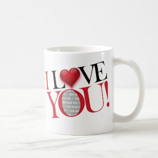 I Love You, photo-template - Customized Coffee Mug