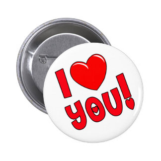 I Love You Pinback Button