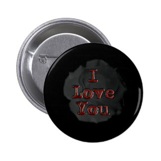 I love you pinback button