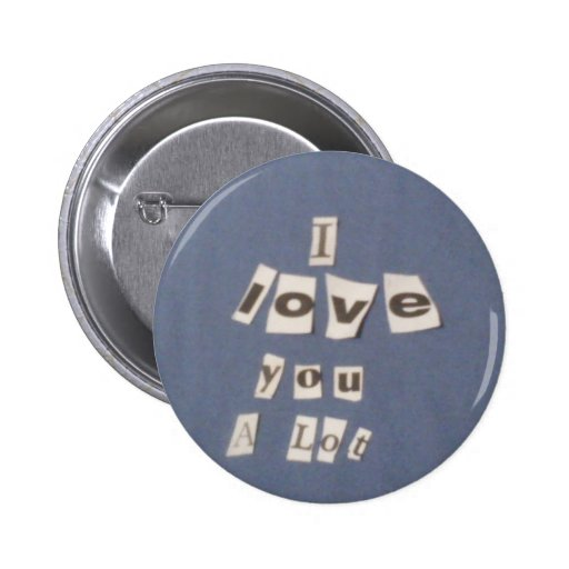 I love you! pinback button