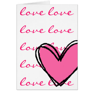 I Love You Pink Heart Card