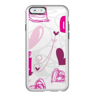 I Love You Pink Hearts Design Incipio Feather® Shine iPhone 6 Case