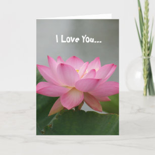Pink lotus flower love cards zazzle i love you pink lotus flower card mightylinksfo