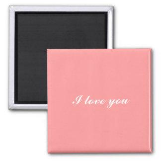 I love you pink magnet