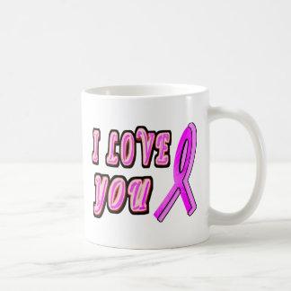 I Love You Pink Ribbon Coffee Mug