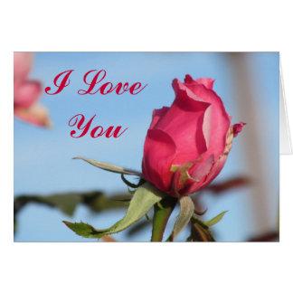 I Love You Pink Rose Card