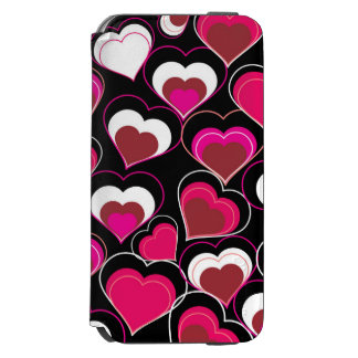 I Love You Pink & White Hearts iPhone 6/6s Wallet Case