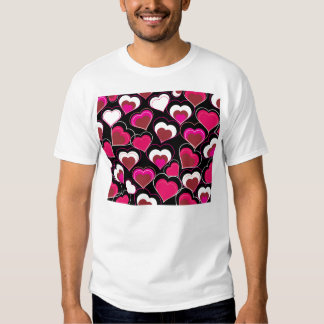 I Love You Pink & White Hearts T-Shirt