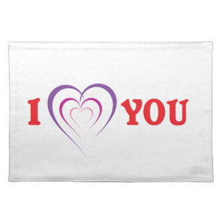 I Love You Cloth Placemat