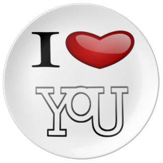 I Love You Plate