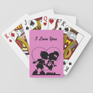 I Love You Playing Cards