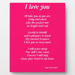 I love you poem plaque