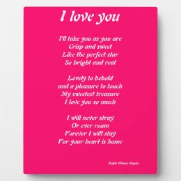 I love you poem plauque plaque