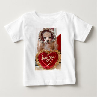 I Love You Poodle Dog Baby T-Shirt