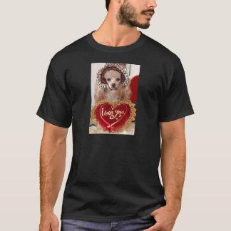 I Love You Poodle Dog T-Shirt