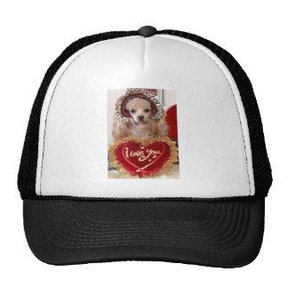 I Love You Poodle Dog Trucker Hat
