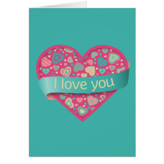 I love you - Popsicle Love Card