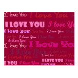 I Love You Post Card